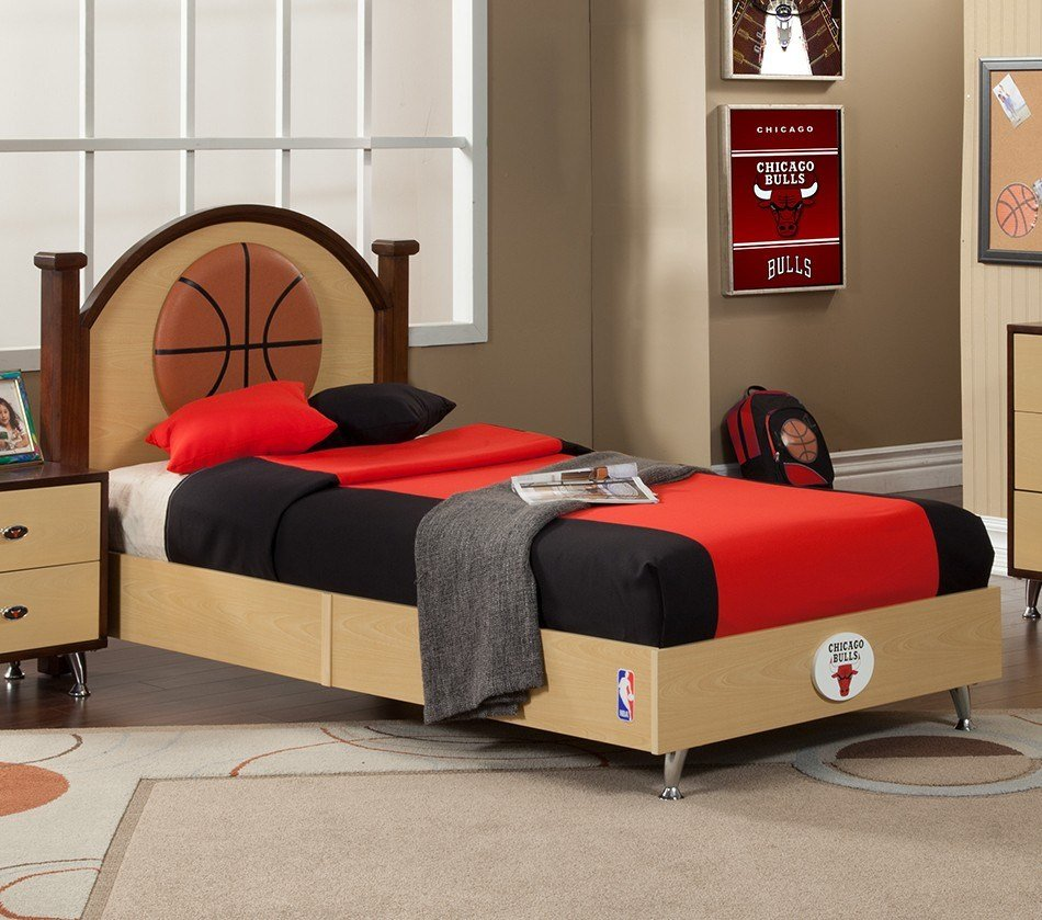 Best Dreamfurniture Com Nba Basketball Chicago Bulls Twin Bed With Pictures