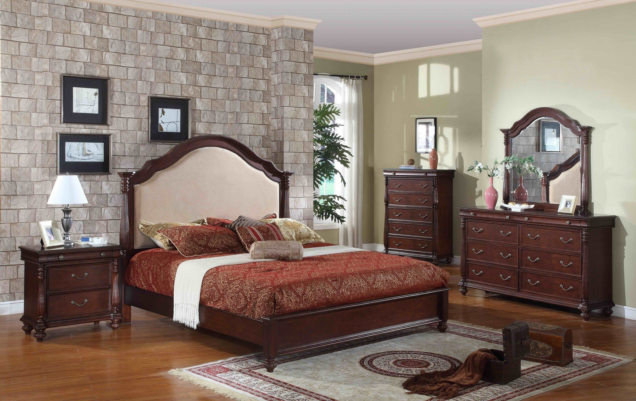 Best Solid Dark Wood Bedroom Furniture Eo Furniture With Pictures