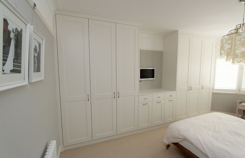 Best White Shaker Fitted Wardrobes Made To Measure Bedroom With Pictures