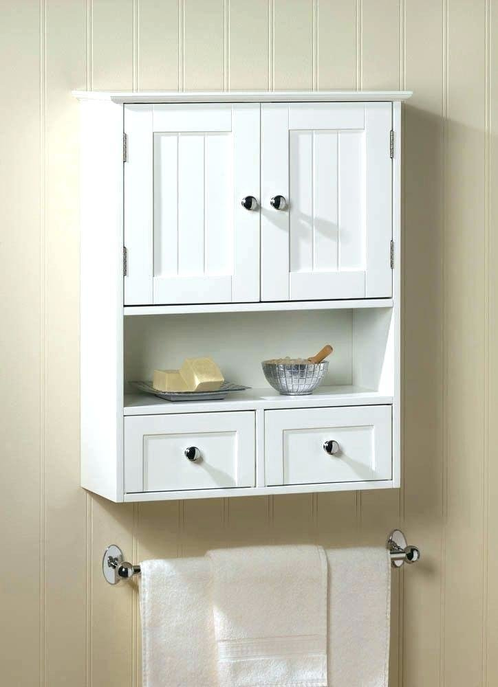 Best White Wood Bathroom Wall Mounted Storage Cabinet With With Pictures