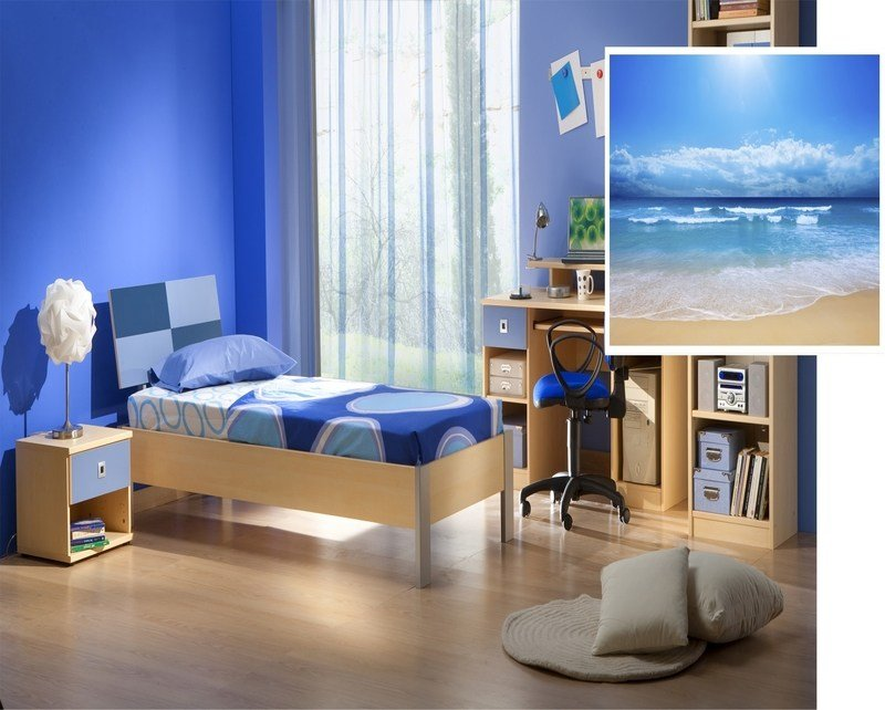 Best Bed Rooms With Blue Color Luxury Blue Aquatic Paint With Pictures