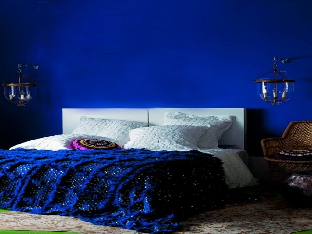 Best Royal Blue Painted Bed Room Blue And Coral Bedroom Royal Blue Bedroom Decorating Inspiration With Pictures
