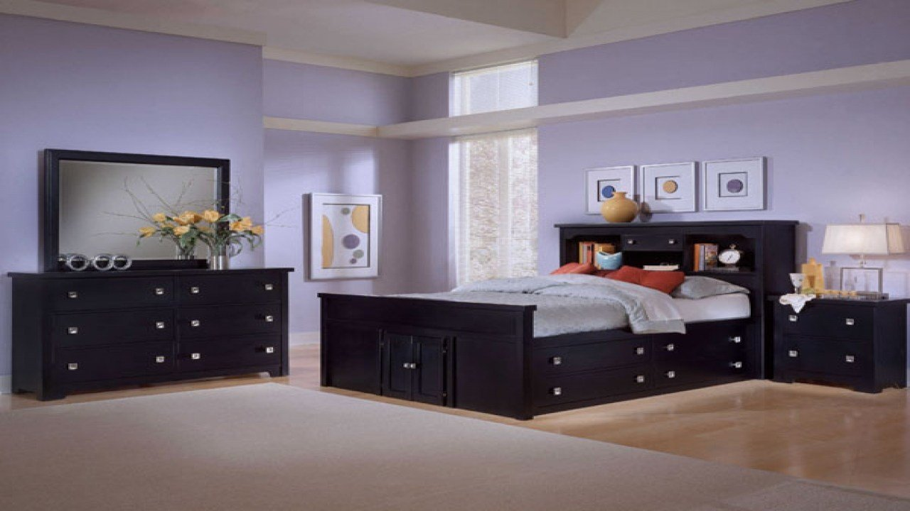 Best Bedroom Ideas For Black Furniture Navy Blue And Purple With Pictures