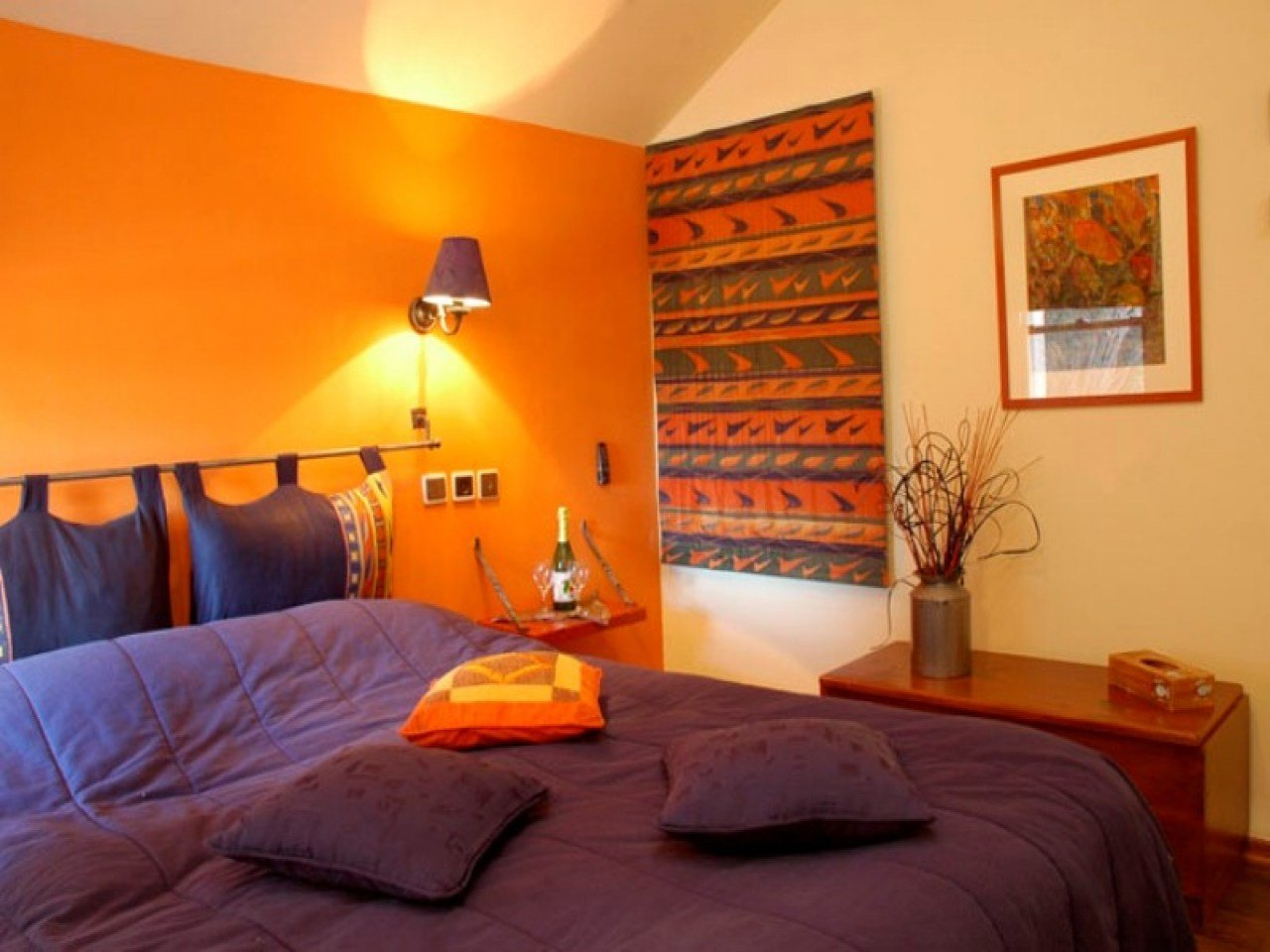 Best Inspiring Bedrooms Orange And Purple Bedroom Ideas Orange With Pictures