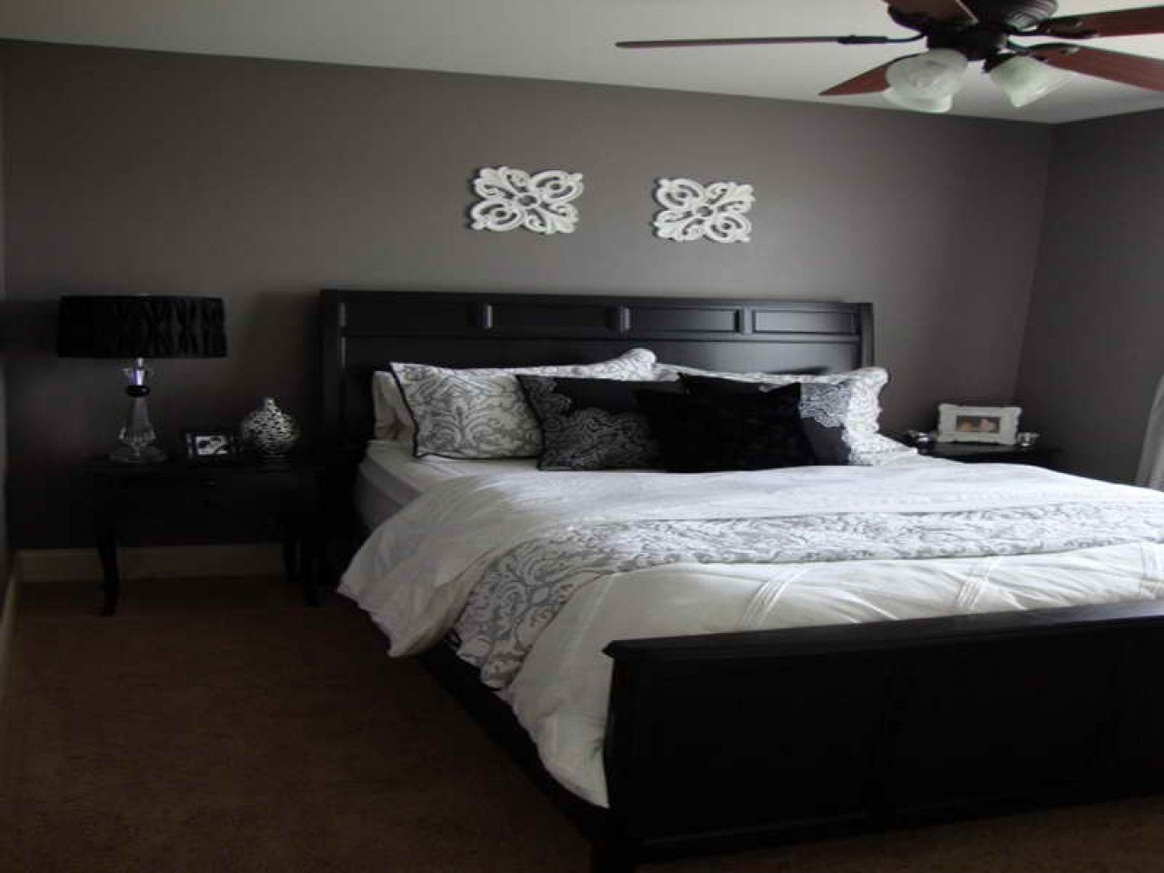 Best Bed Room Furniture Designs Purple Gray Bedroom Paint With Pictures