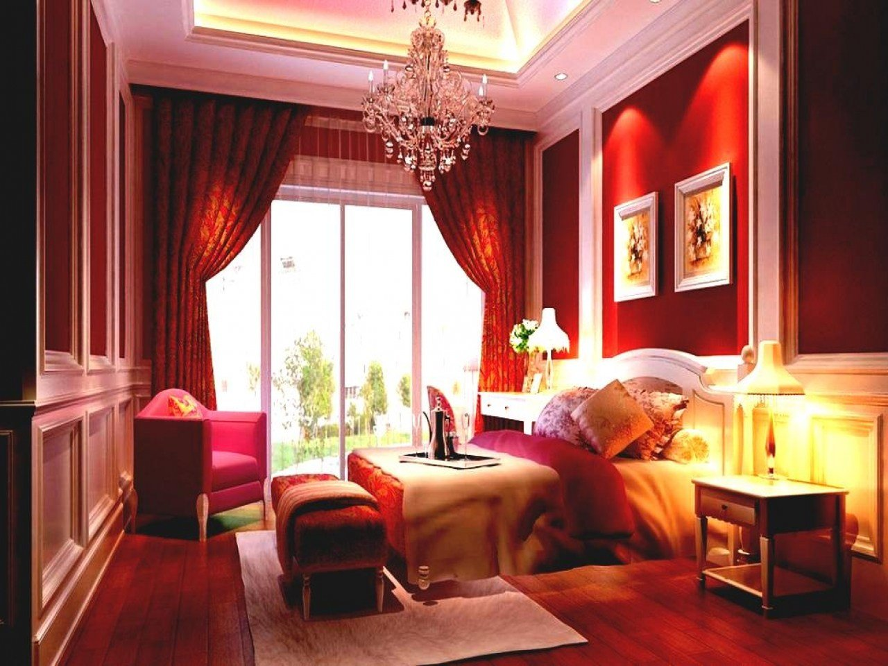 Best Bedrooms For Couples Red Romantic Bedroom Design Designs With Pictures