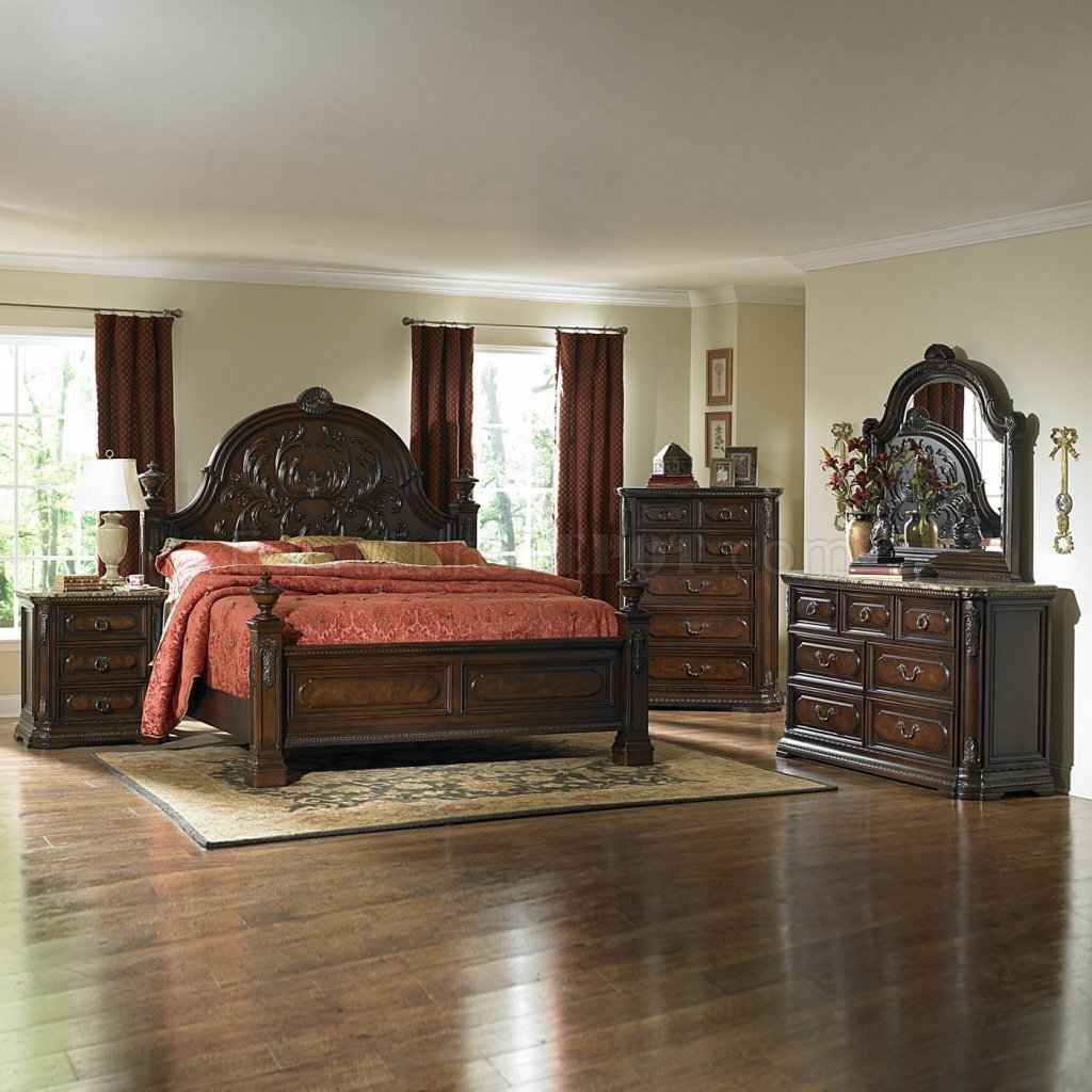 Best Dark Brown Cherry Traditional Bedroom W Optional Items With Pictures