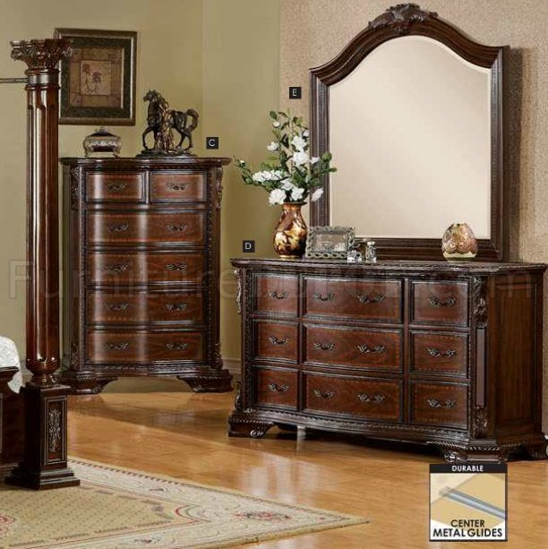 Best Cm7271 Mandalay Bedroom In Brown Cherry W Options With Pictures