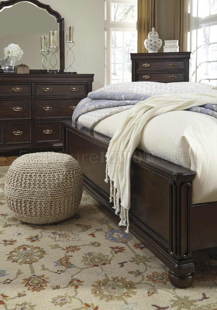 Best Moluxy 4Pc Bedroom Set B596 In Cherry Finish By Ashley With Pictures