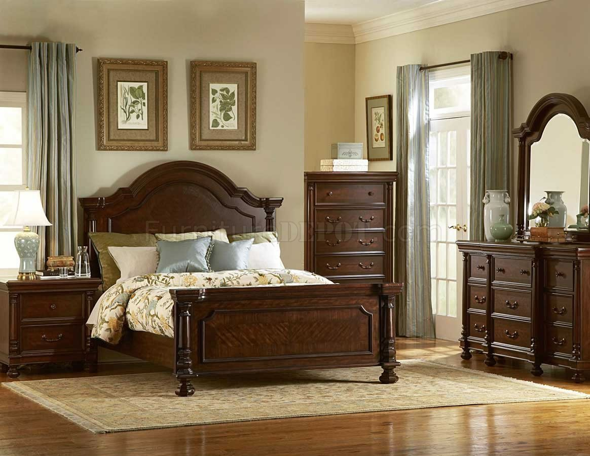 Best Dark Brown Finish Traditional Bedroom W Optional Items With Pictures