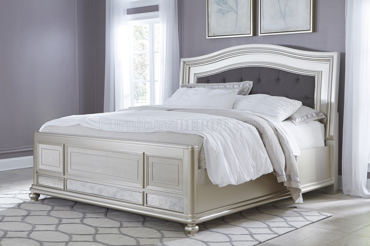 Best Coralayne B650 Bedroom In Silver Finish By Ashley Furniture With Pictures