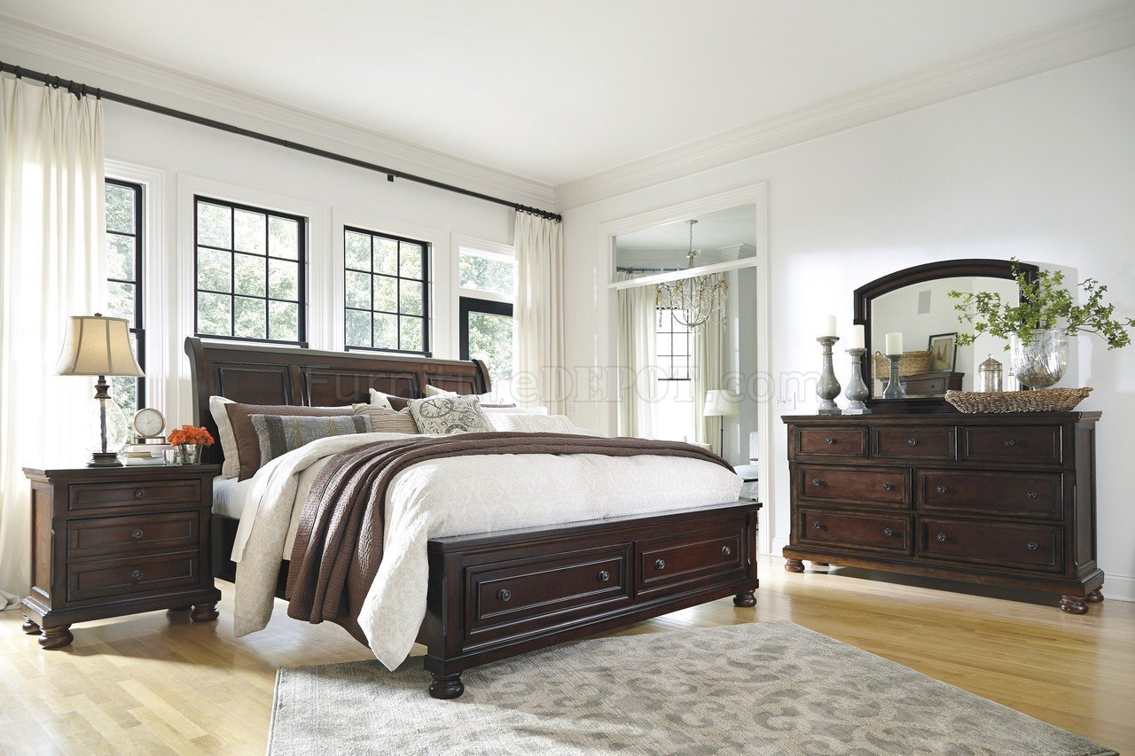 Best Porter Bedroom B697 In Burnished Brown W Storage Bed By Ashley With Pictures