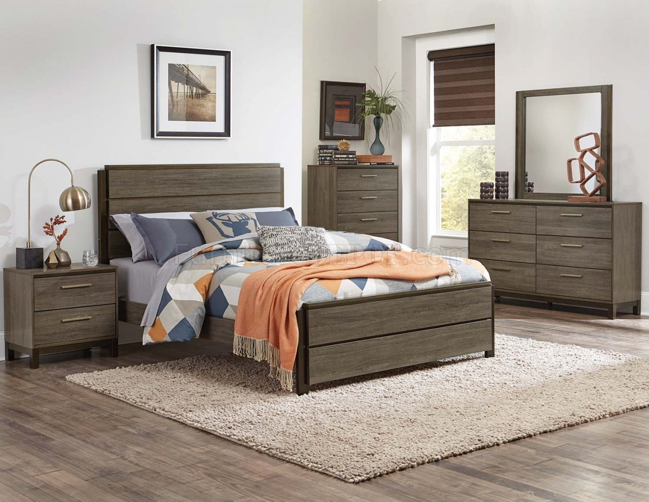 Best Vestavia Bedroom Set 1936 In Dark Brown By Homelegance W With Pictures