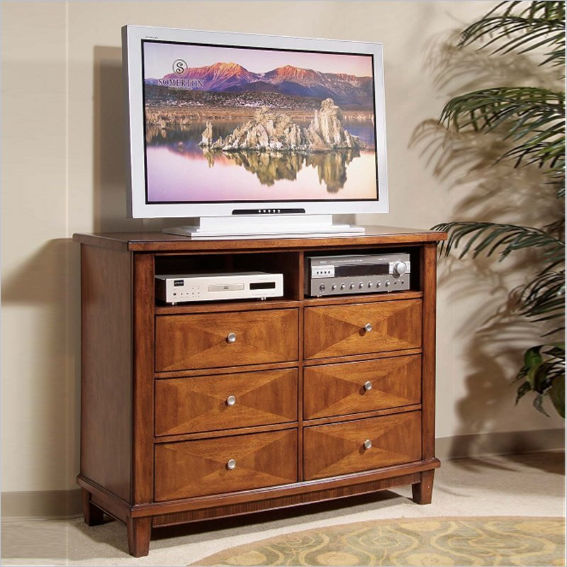Best Unway Contemporary Entertainment Dresser In Warm Brown With Pictures