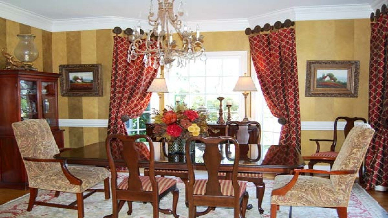 Best Dining Room Curtain Designs Red Curtains For Bedroom Red With Pictures