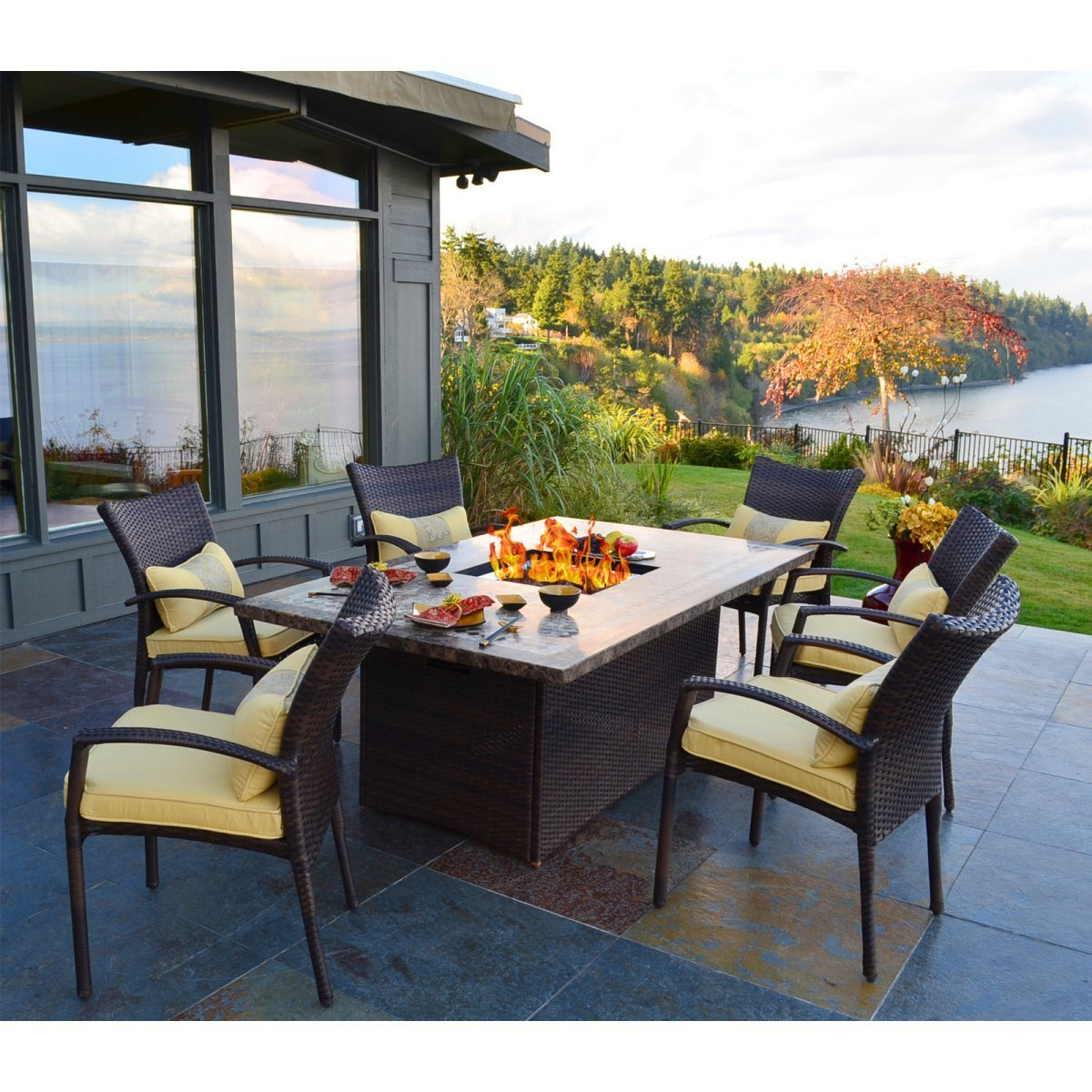 Best Homeofficedecoration Outdoor Dining Tables With Gas Fire Pit With Pictures