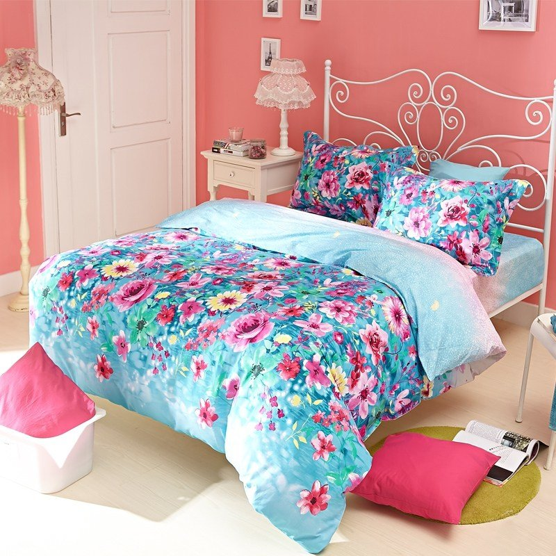 Best Pink And Blue Bedroom Pink Floral Bedspreads Pink And With Pictures