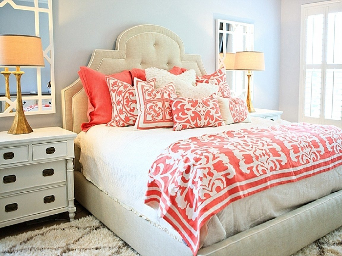 Best Bedding For Gray Bedroom Light Blue And Coral Bedding With Pictures