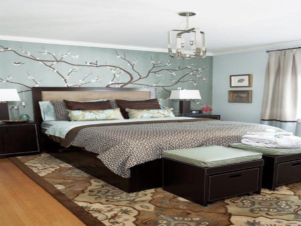 Best Blue And Beige Bedroom Blue And Brown Bedroom Decorating With Pictures
