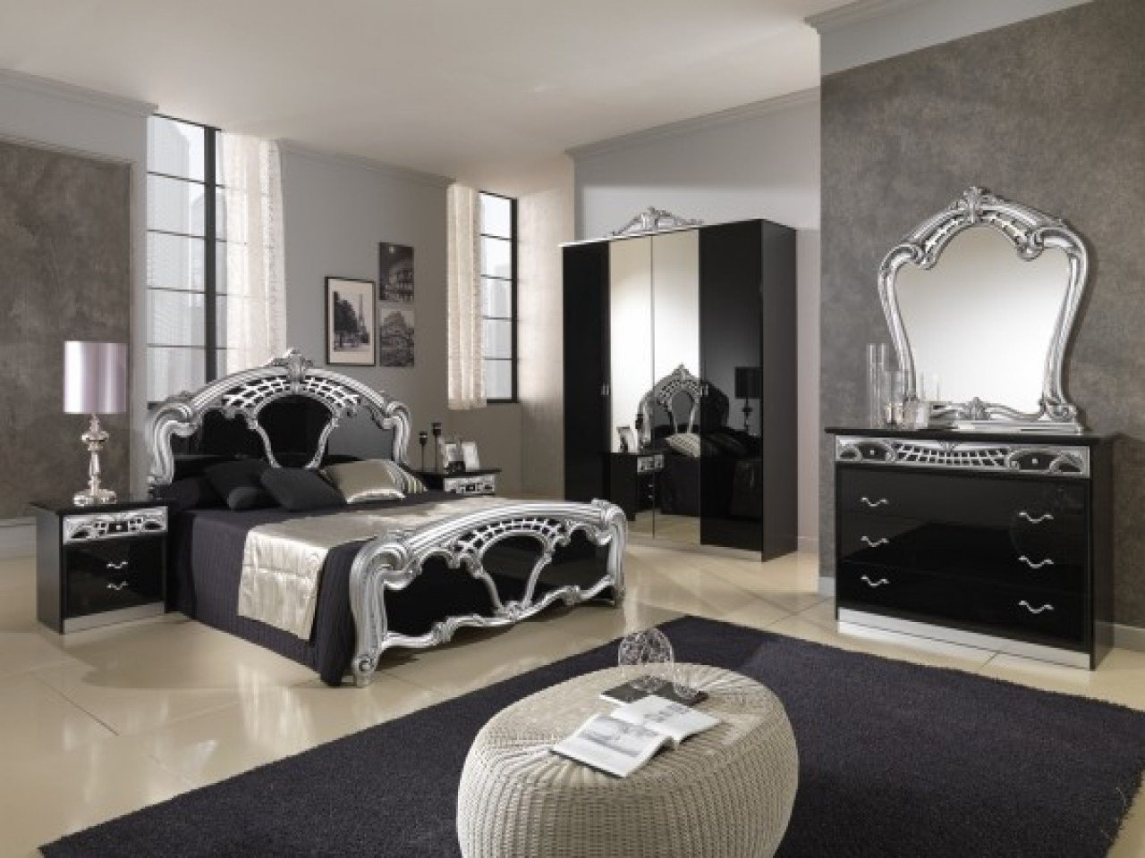 Best Silver Bedroom Ideas Simple Bedroom Ideas Silver Black With Pictures