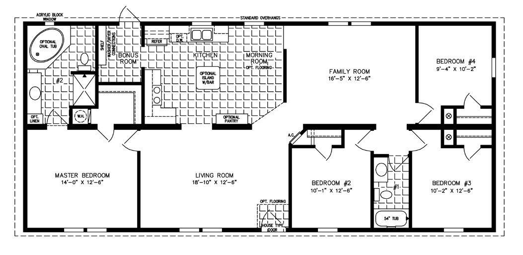 Best 1600 To 1799 Sq Ft Manufactured Home Floor Plans With Pictures