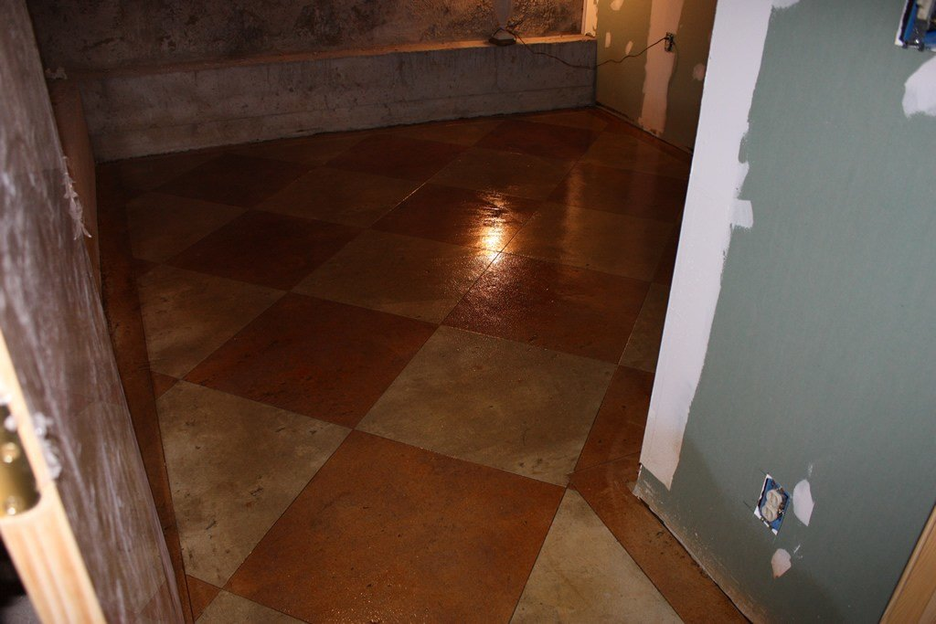Best Acid Stained Concrete Floors Countertops Boston Checkers With Pictures