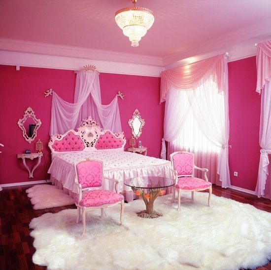 Best Pink Bedroom With Glass Table Room Decor And Design With Pictures