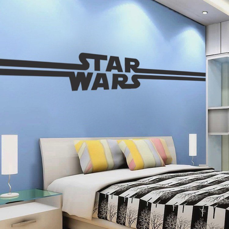 Best Boys Star Bedroom Wallpaper Mural Decal Star Decal Wars With Pictures