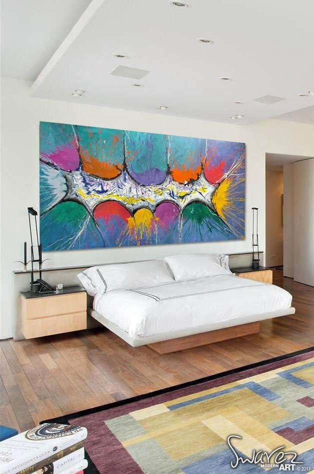 Best Very Big Abstract Canvas Painting Large Size Multi With Pictures