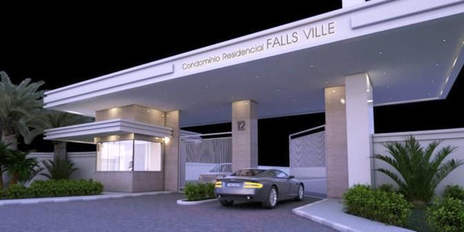 050-Portaria - Falls Ville Residence - Vista Noturna - Projeto