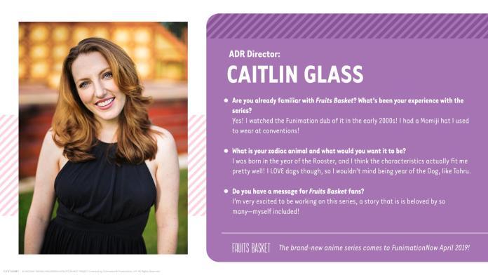 Caitlyn Glass ADR Director Fruits Basket English cast