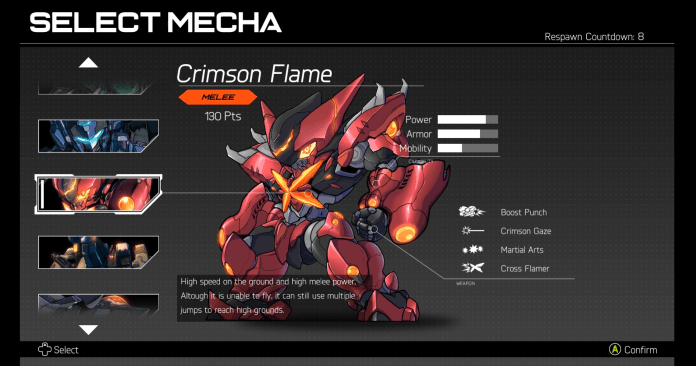 hardcore mecha crimson flame