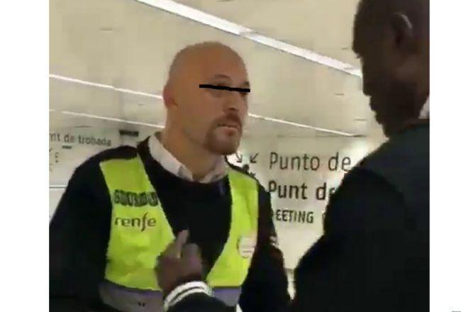 Nuevo episodio racista en Barcelona. Un vigilante se extralimita poniéndose violento y acaba siendo él el identificado.