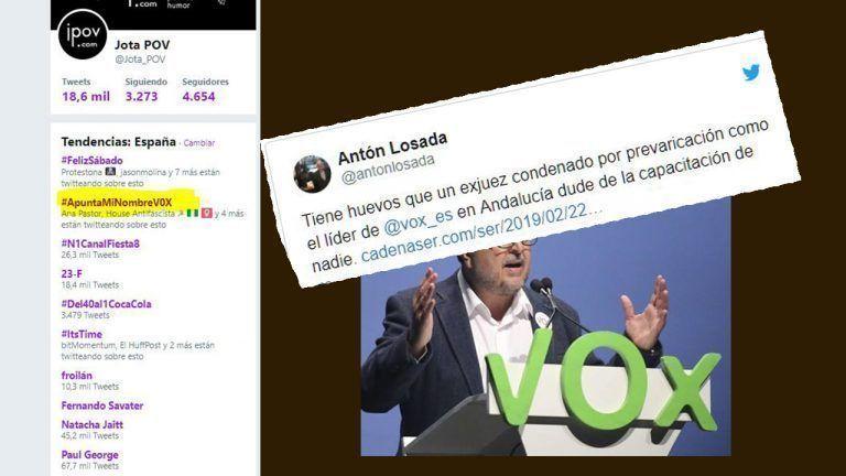 Vox señala, la red responde: #ApuntaMiNombreV0X, tras pedir una lista de los trabajadores de Violencia de Género