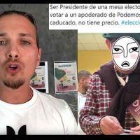Youtuber pro Vox impide votar a un apoderado de Podemos incumpliendo la ley, le entra el canguelo y desactiva su cuenta