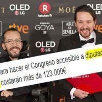 Iglesias «se la saca» ante la aberración de 'El Español' sobre Echenique y la reforma del Congreso para hacerlo accesible a discapacitados