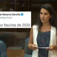 Vídeo | «Los nuestros». Rocío Monasterio da el discurso fascista de 2020 según María Navarro de 'La Cafetera'