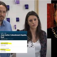 """El más difícil todavía: más críticas a Iglesias y Montero que al rey Juan Carlos I el día después de su """"salida"""""""