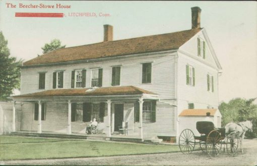 The Beecher house; image courtesy of the Litchfield Historical Society.
