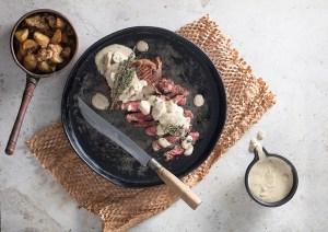 Mushroom Cream Sauce with Biltong