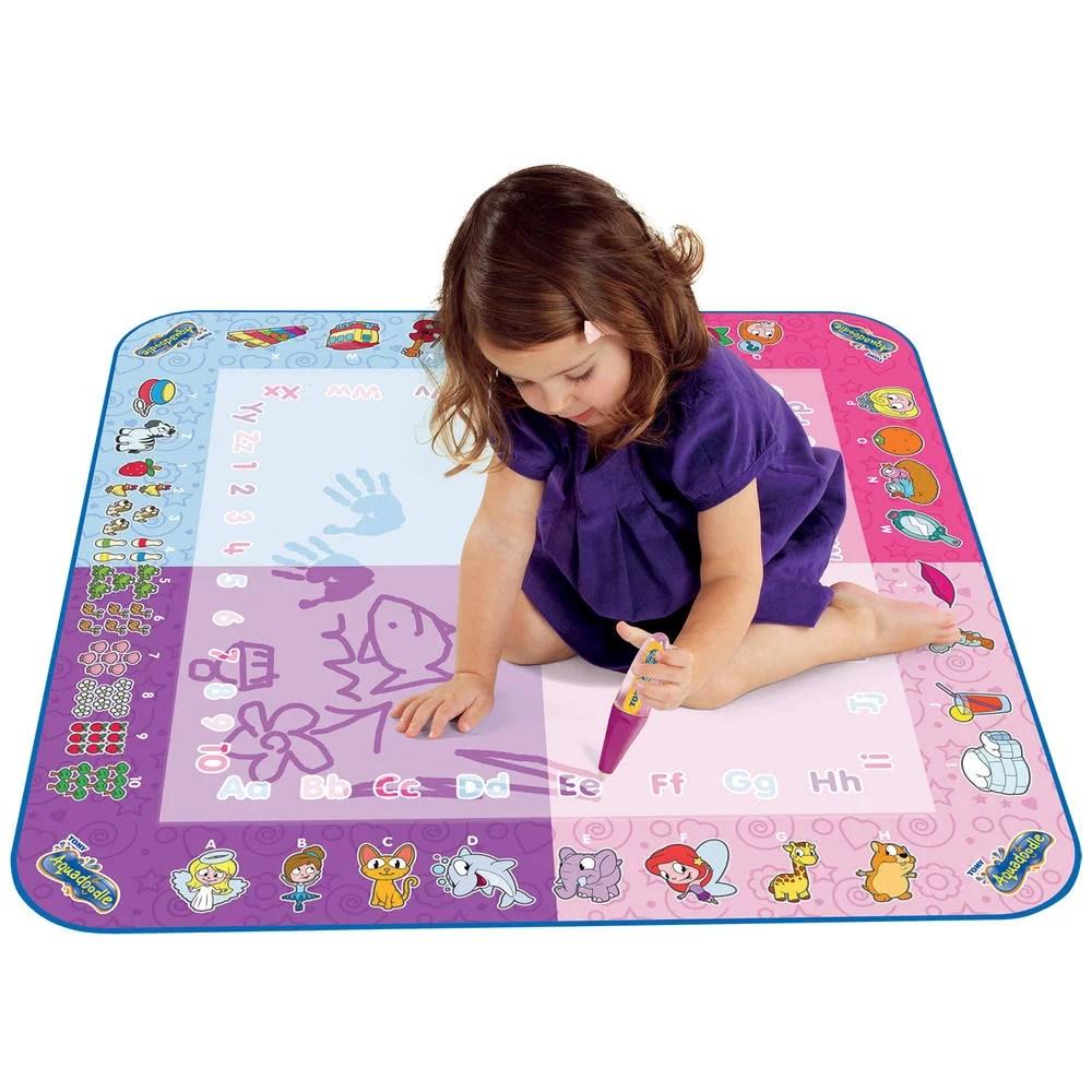 tapis aquadoodle classique 4 couleurs rose