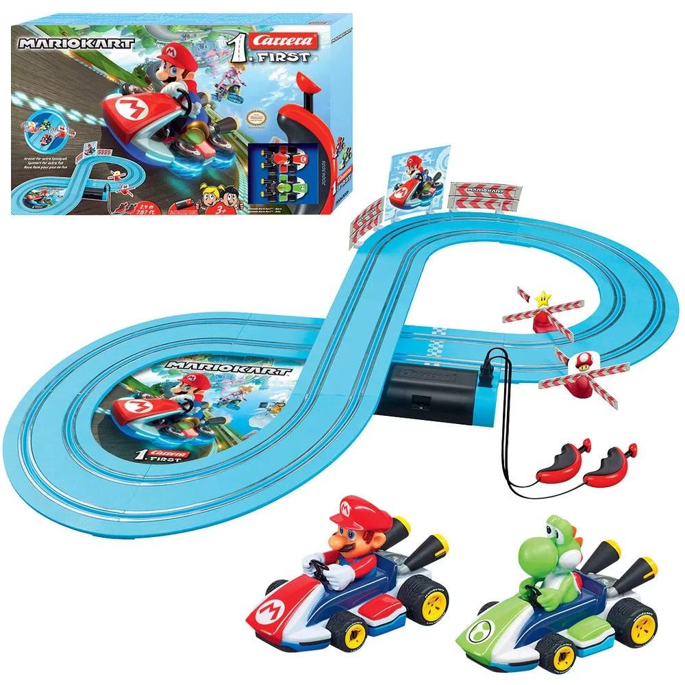 circuit et voitures carrera first 1 50 nintendo mario kart