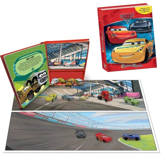 Livre comptines et figurines cars 17  jeux educatifs  jouéclub
