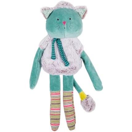 poupee doudou chat bleu les pachats