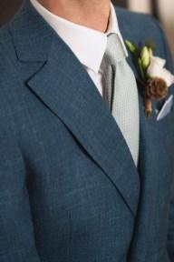 Cravate en grenadine de soie vert d'eay