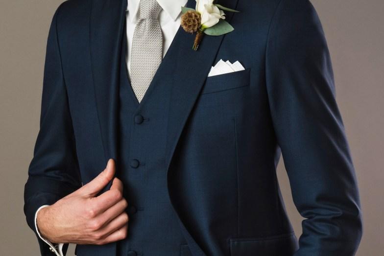 Tissu fil à fil pour costume de mariage sur mesure