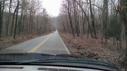 We drove up back roads to the Foothills Parkway