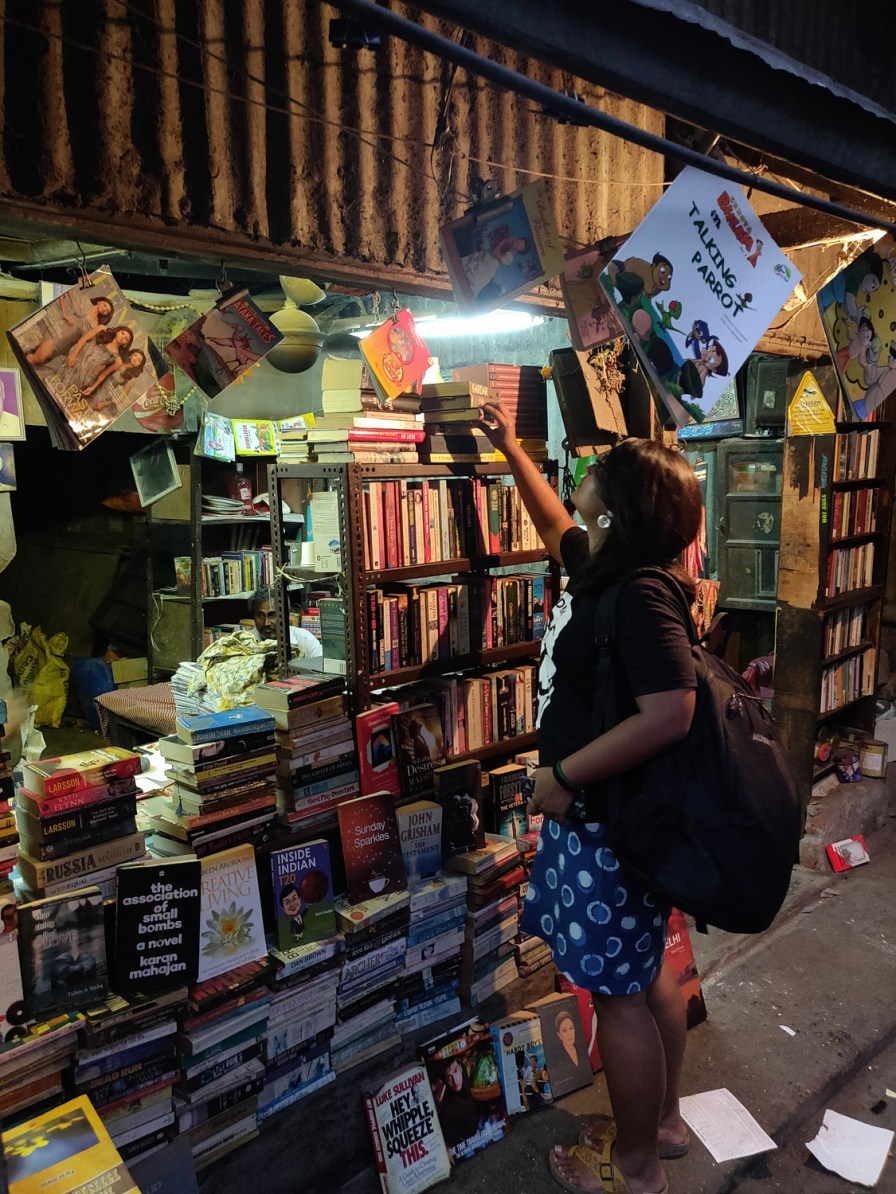 An old, unassuming bookstore in one of Bandra's many intricate by-lanes.