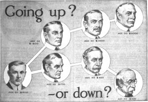 1916 Ad Urging Human Capital to Go to Get an Education
