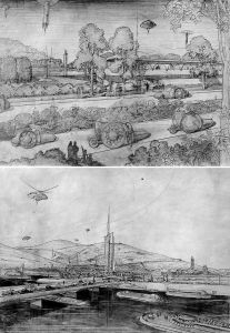 Wright's Broadacre City Sketches